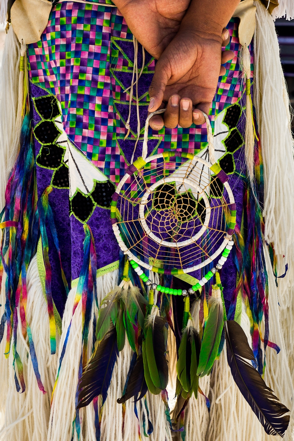 A traditional native dreamcatcher at the Grand Canyon